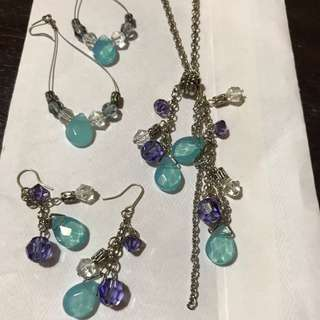 Handmade Necklace With 2 Sets Of Matching Earrings