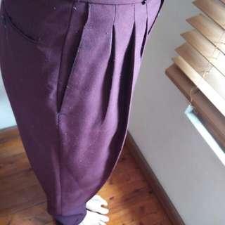Vintage High Waisted Pleated Pants
