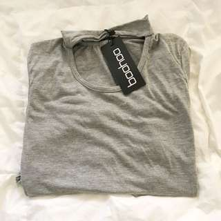 BOOHOO || Grey choker tshirt dress