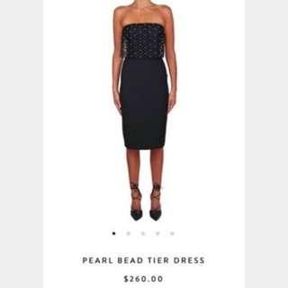 RENTING Kookaï Black Pearl Beaded Dress