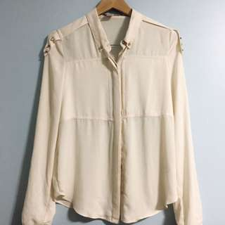 F21 Button-Up Blouse
