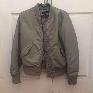 Brand New Grey Uniqlo Bomber Jacket Size M