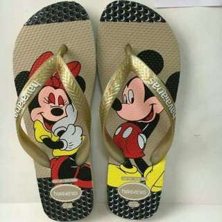 Mickey Mouse And Minnie Mouse Havaianas