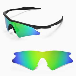 13f883beb6 M Frame Sweep Emerald Green POLARIZED Walleva Replacement Lenses for Oakley  M Frame Sunglasses