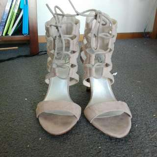 Pulp High Heels Taupe