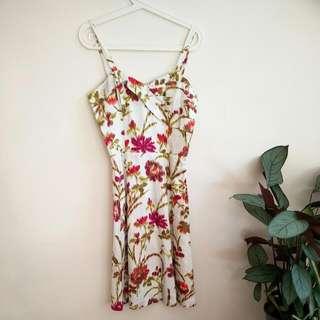 Retro Floral Evening Dress