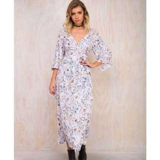 Princess Polly Wrap Lilac Maxi Dress L