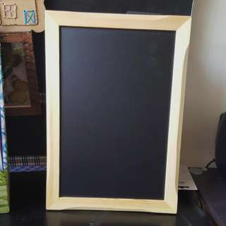 Chalkboard frame A4 size wooden