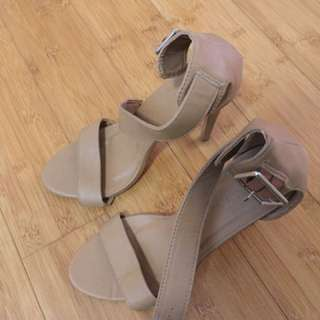 Rubi Shoes Tan Heels Size 7