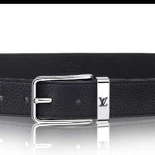 [NEW] Louis Vuitton LV Men Black Leather Belt 皮帶 Father's Day Gift (not Gucci Hermes Chanel BV)