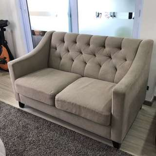 King coil 2-seater sofa (Price Drop To $500 If Both 3 And 2 Seater)