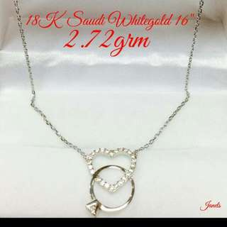 Necklace With Pendant 18k White Gold