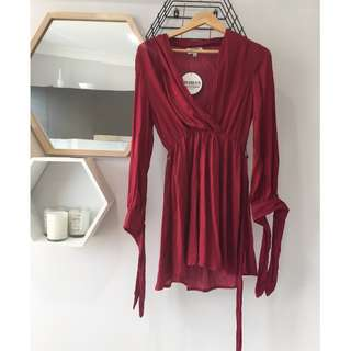 Red Long Sleeve Dress