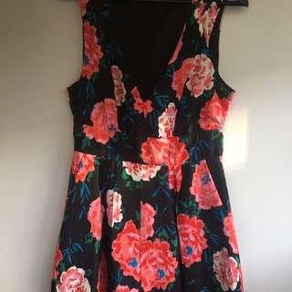 Kookai Black Floral Jumpsuit Size 40