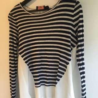 Wish Size M Stripe Top
