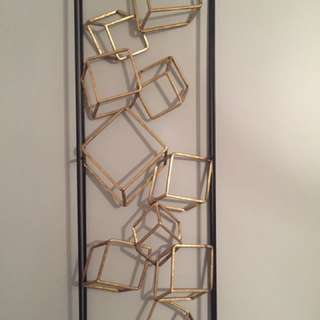 Geometric GOLD & BLACK Square 3D Wall Art