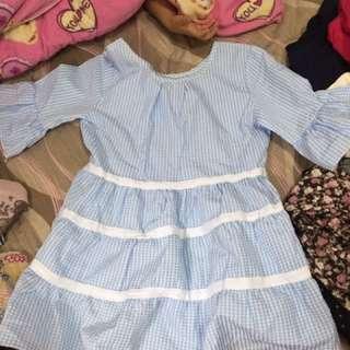 藍色可愛洋裝