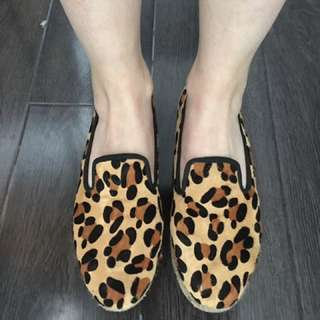 Senso Size 41 (10-10.5) Leopard Ballet Flats