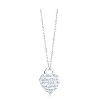 Tiffany & Co Notes Heart Tag Pendent Discontinued