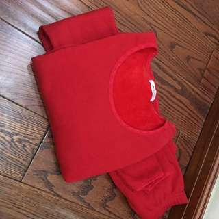 Red Thermal Set Fits Small To Large