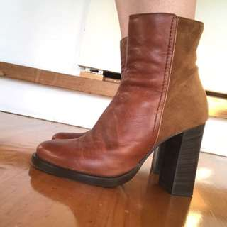 True Leather And Suede Boots