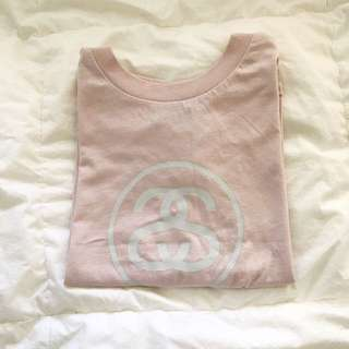 STUSSY || Pink cropped muscle tank