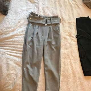 Sheike S6 Blue/Grey Paperbag Pants