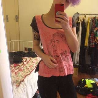 Pink Illustrated T-shirt