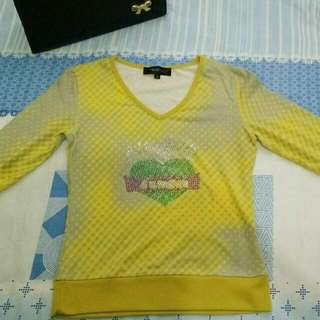Yellow Gray Blouse
