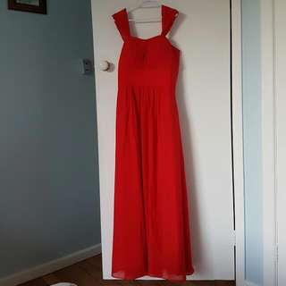 Red Bridesmaid/formal/evening Dress (UK Size 20) NEW