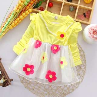 Long sleeve floral dress for kid