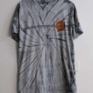 Grey Tie Dye Santa Cruz Skateboard Shirt