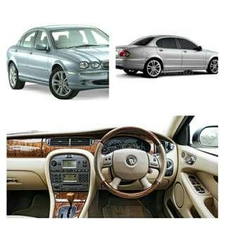 Jaguar X-Type executive sedan for lease