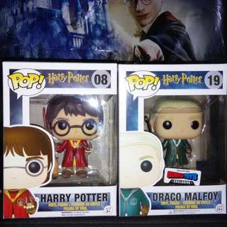 (ON HAND) Harry Potter and Draco Malfoy Quidditch Funko Pop Bundle