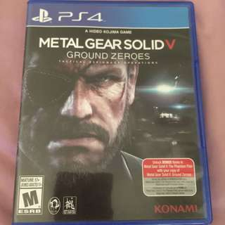 Metal Gear Solid V: Ground Zeroes PS4 Game