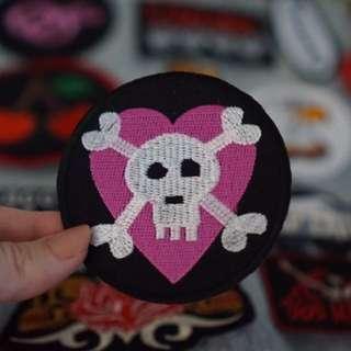 Cute Punk Skull Patch