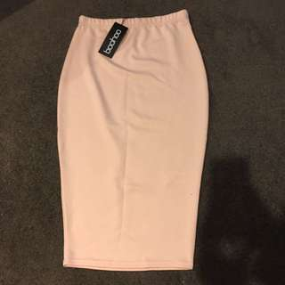 Brand New Nude Midi Skirt