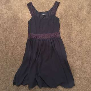 Dotti Navy Dress Size 8