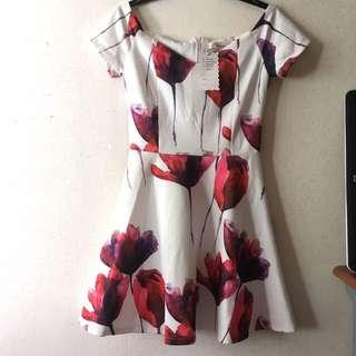 BN Floral White Dress Size M
