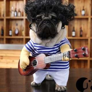 寵物用品 狗狗衣服  搖滾吉他  搞笑服裝 rock dog 寵物服飾 變裝秀