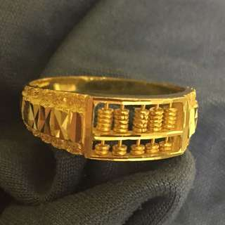 Abacus Ring Gold 916
