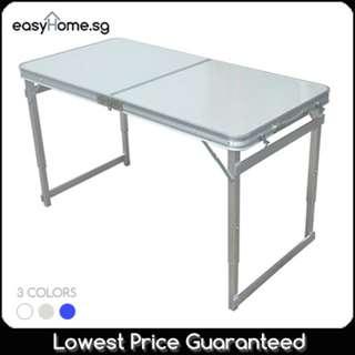 🚚 Thicken Legs!! Heavy Duty 120cm x 60cm Portable Foldable Aluminum Table/ 3 Colors.