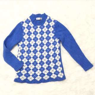 Blue Chest Sweater