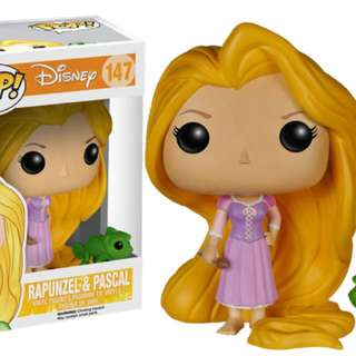 Rapunzel and Pascal Pop Vinyl