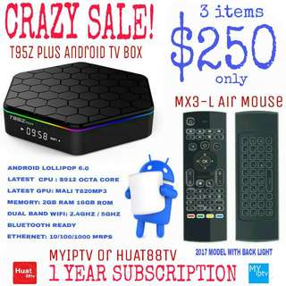T95Z Plus Android TV Box Package