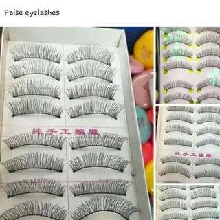 Human Hair False Eye Lashes