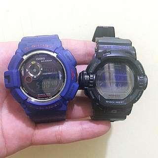 Gshock Watch G-9200bp (Riseman) And G-9300nv (Mudman) Sold As Pack