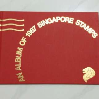 An Album Of 1987 Singapore Stamps