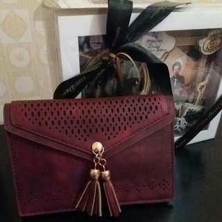 Silky Maroon Bag