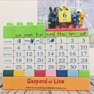 日本Gaspard et Lisa 積木造型桌曆
